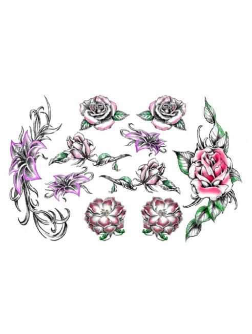 Tatouage éphémère - Plaque de 10 tattoos