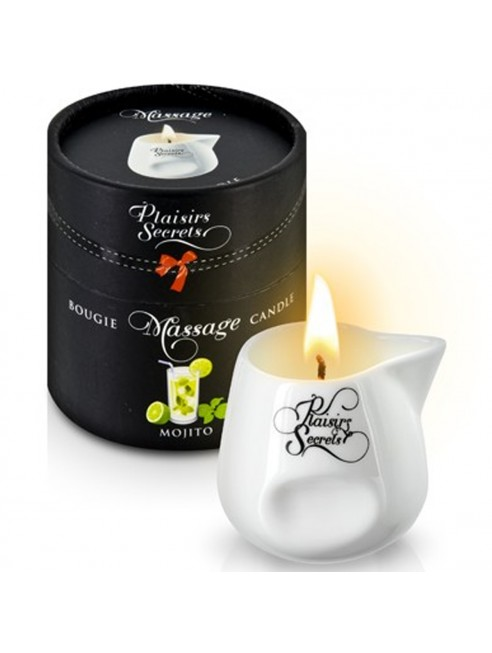 Fournisseur dropshipping Bougie de massage mojito sensuelle pot en céramique 80ml
