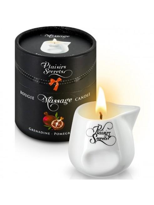 fournisseur dropshipping Bougie de massage grenadine sensuelle pot en céramique 80ml
