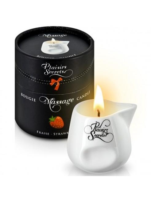 Grossiste dropshipping Bougie de massage fraise sensuelle pot en céramique 80ml