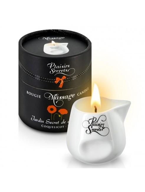 Grossiste Plaisirs Secrets Bougie de massage fleurie coquelicot sensuelle pot en céramique