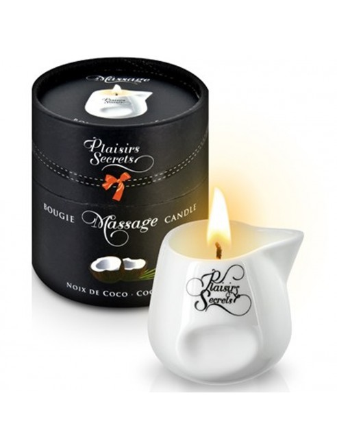 Grossiste Plaisirs Secrets Bougie de massage fruitée noix de coco sensuelle pot en céramique