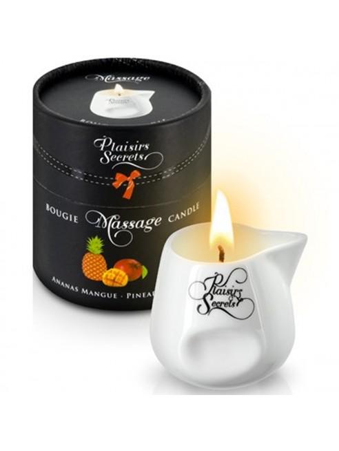 Fournisseur Plaisirs Secrets Bougie de massage ananas mangue sensuelle pot en céramique