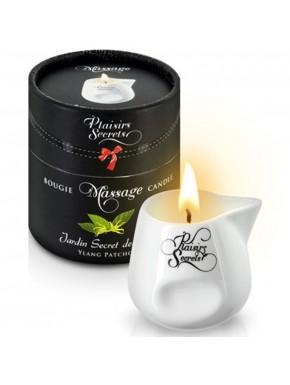 Fournisseur Plaisirs Secrets Bougie de massage ylang patchouli sensuelle pot en céramique