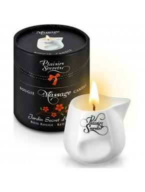Fournisseur Plaisirs Secrets Bougie de massage bois rouge sensuelle pot en céramique