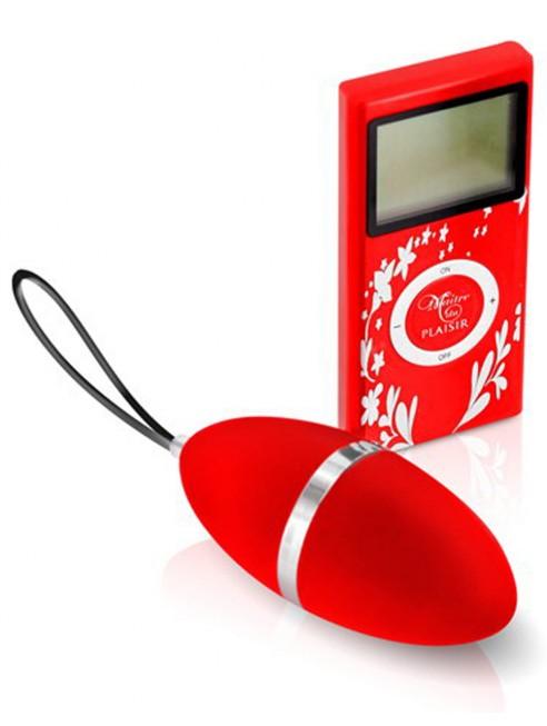 Grossiste Plaisirs Secrets oeuf vibrant rouge 10 vitesses