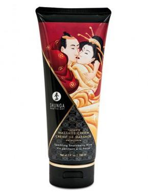 Shunga dropshipping creme de massage fraise