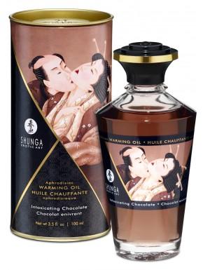 Huile de massage chocolat chauffante comestible 100ml