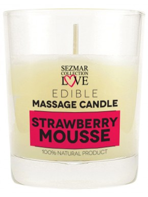 Grossiste dropshipping Bougie de massage mousse de fraise