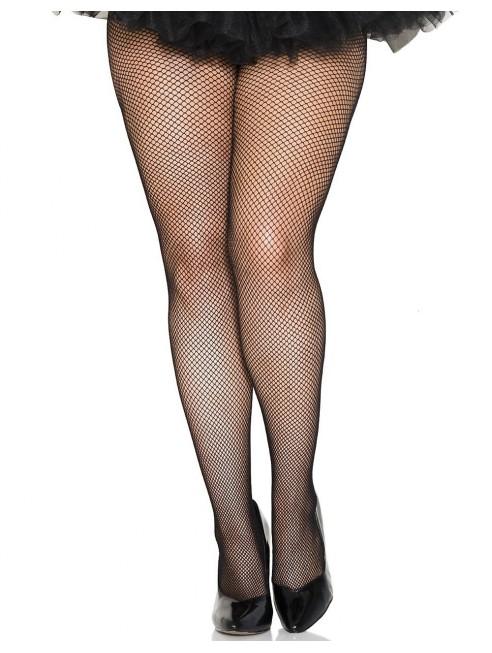 Grossiste lingerie femme ronde Collant noir résille grande taille