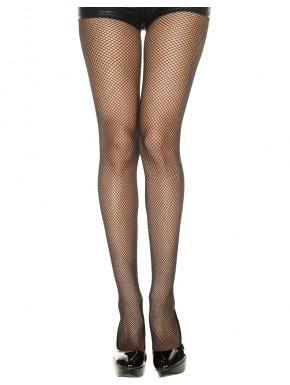 Collant noir sexy fine résille - MH9001BLK