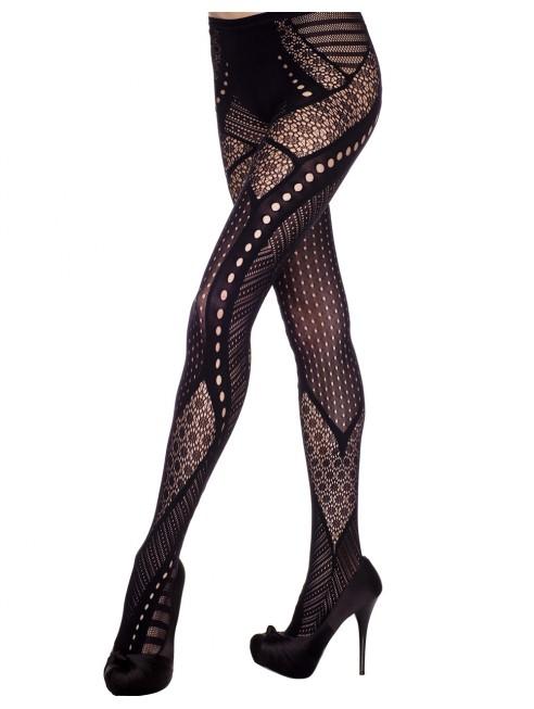 Grossiste dropshipping Collant fantaisie noir effet glamour