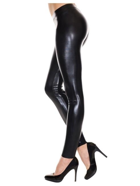 Grossiste dropshipping Leggings noir brillant effet simili cuir