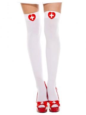 Bas sexy blancs d'infirmière