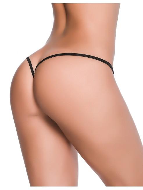 Grossiste dropshipping Mapalé String ficelle sexy noir dos en forme Y