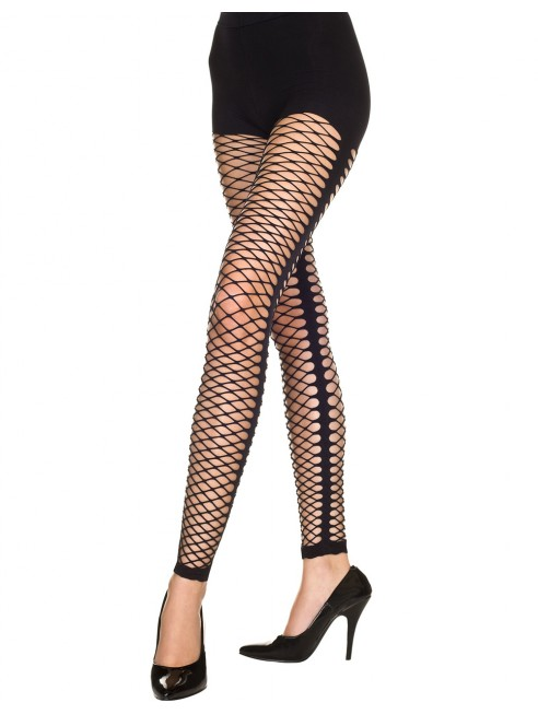 Grossiste Music Legs Legging noir sexy style filet