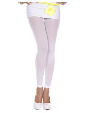 Legging blanc fin opaque et uni