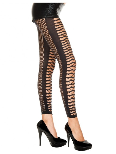 Grossiste dropshipping Leggings noir sexy lanières