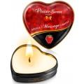 Fournisseur Plaisirs Secrets Mini bougie de massage fraise boîte coeur 35ml