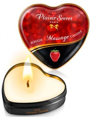 Mini bougie de massage fraise boîte coeur 35ml - CC826064