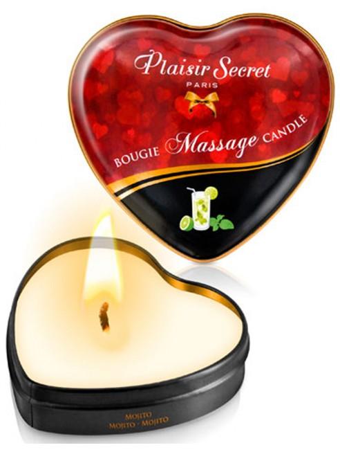 Fournisseur Mini bougie de massage mojito boîte coeur 35ml
