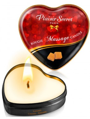 Mini bougie de massage caramel boîte coeur 35ml - CC826068