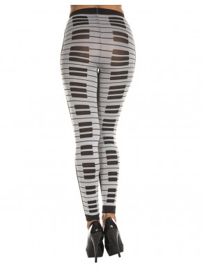 Leggings gris fashion imprimé touches de piano - MH35817GYB