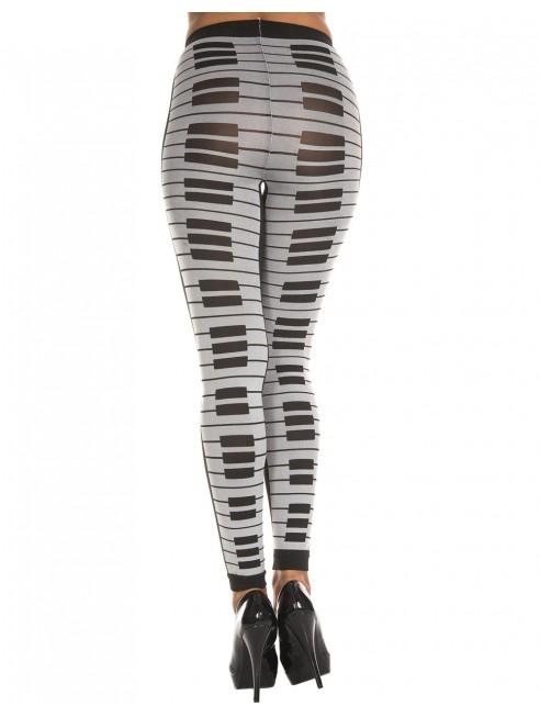 Grossiste dropshipping Leggings gris fashion imprimé touches de piano