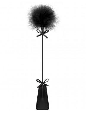 Cravache noire bdsm avec plumeau - CC5700770010