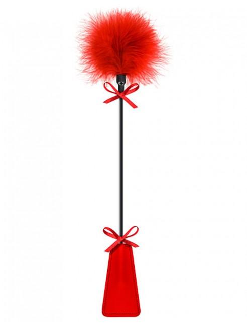 Fournisseur dropshipping Cravache rouge bdsm avec plumeau