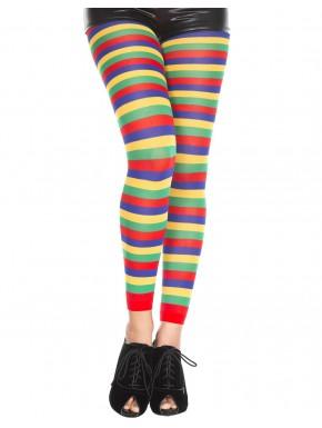 Legging fantaisie coloré bandes horizontales - MH35008RAI