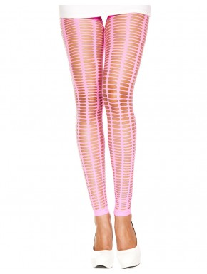 Grossiste dropshipping Leggings rose fluo moulant ajouré petits trous