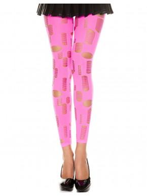 Grossiste legging sexy Legging rose fluo ajouré