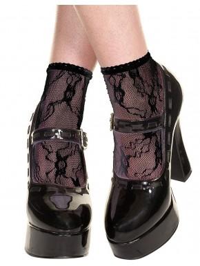 Socquettes noires en dentelle - MH571BLK