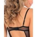 Grossiste lingerie dropshipping Body string noir armatures poitrine et balconnet