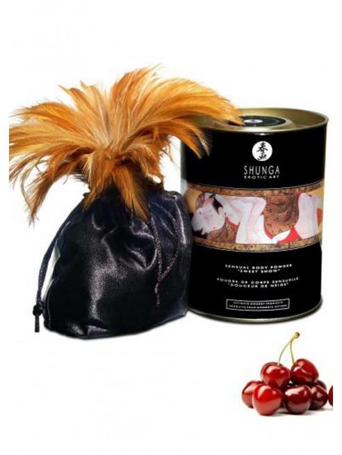 Fournisseur Shunga Poudre de massage corporelle comestible cerises ardentes 228grs