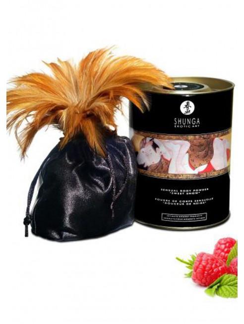 Fournisseur dropshipping Shunga Poudre de massage corporelle comestible émotion de framboises 228grs