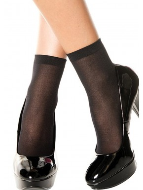 Socquettes chaussettes noires nylon - MH540BLK