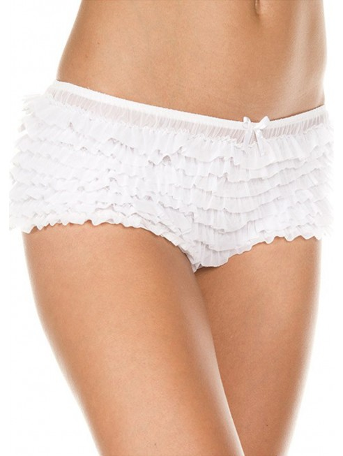 Grossiste dropshipping Culotte rétro blanche froufrou sexy