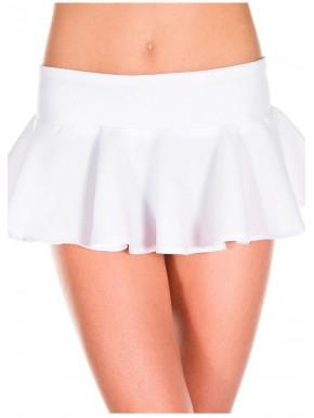 Fournisseur mode Mini-jupe évasée volante blanche