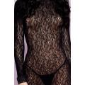 Grossiste dropshipping Robe courte coquine noire à manches longues