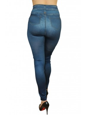Grossiste mode féminine Legging bleu style jean neuf
