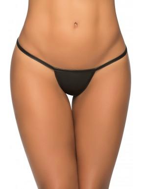 Fournisseur lingerie String ficelle en Y wetlook noir