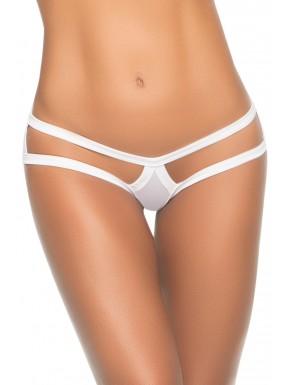 Culotte string cage blanche - MAL1074WHT