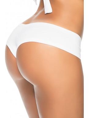 Grossiste Mapalé Tanga blanc froncé sur les fesses