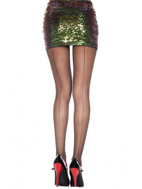 grossiste Collant noir nylon coutures