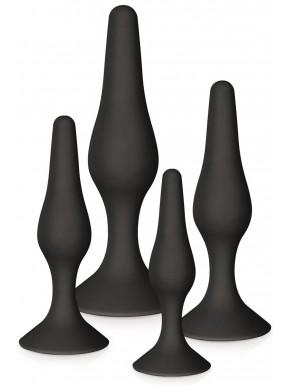 Fournisseur sextoys Coffret 4 plugs plaisir anal noirs