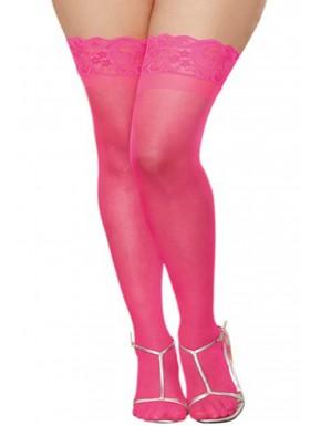 Fournisseur Dreamgirl Bas roses grande taille nylon autofixants jarretières dentelle