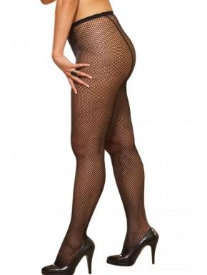 Grossiste Collant couture grande taille nylon noir fine résille