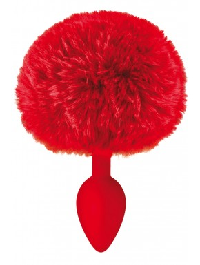 Fournisseur sextoys Plug anal pompon rouge